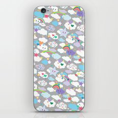 Clouds and Rainbows Kawaii Pattern iPhone & iPod Skin