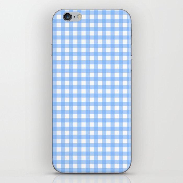Sky Blue Gingham iPhone Skin
