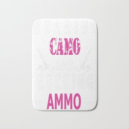 Wearing Camo and Rocking Ammo Graphic T-shirt Bath Mat
