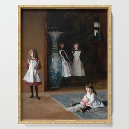 John Singer Sargent The Daughters of Edward Darley Boit 1882 Serving Tray