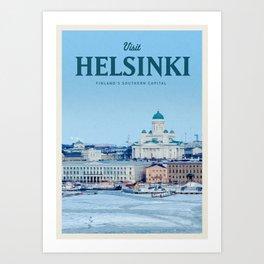 Visit Helsinki Art Print