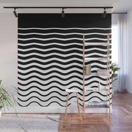 Black Wave Wall Mural