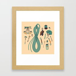 Climbing gear square Framed Art Print