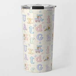 Teddy Bear Alphabet ABC's Travel Mug