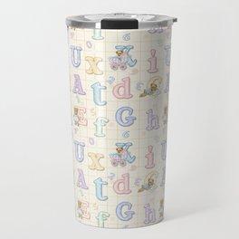 Teddy Bear Alphabet ABC's Travel Mug