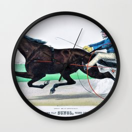 Louis Maurer -The grand California filly Sunol, record - Digital Remastered Edition Wall Clock