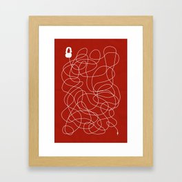 Headphone Maze Framed Art Print