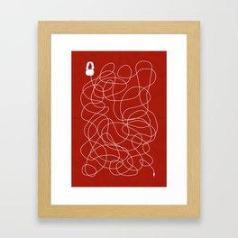 Headphone Maze Framed Art Print