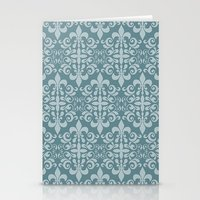 damask Stationery Cards featuring Damask by Xiao Twins