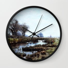 Late Afternoon, Dacha Moor - Theodore Clement Steele Wall Clock