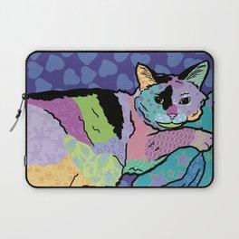 Cat Pattern Portrait Laptop Sleeve