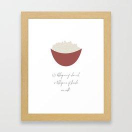 Popcorn for 1 Framed Art Print