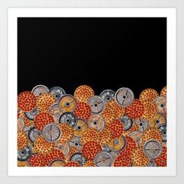 IRON&EMOTION PIZZA & PLATES  Art Print