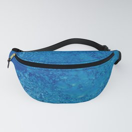 Raising underwater bubbles in the blue sea (another version) Fanny Pack