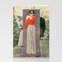 lip Stationery Cards featuring Lip Service by Peter Campbell