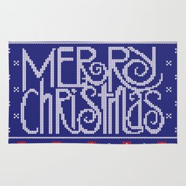Merry Christmas from Snowman Rug