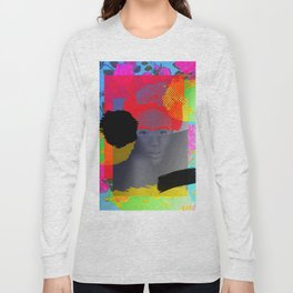Woman Sited With Hat and Flowers Long Sleeve T-shirt