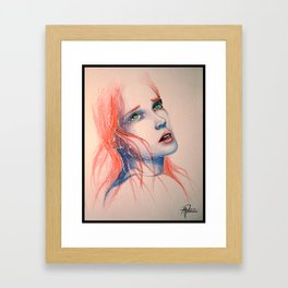 Struck Framed Art Print