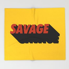 Savage 08 Throw Blanket
