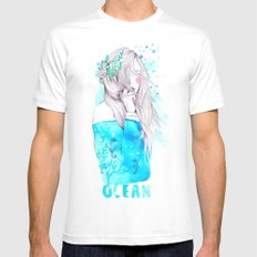 Ocean Mens Fitted Tee 2X-LARGE White