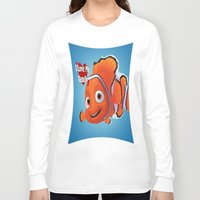 nemo Long Sleeve T-shirts featuring nemo  , nemo  games, nemo  blanket, nemo  duvet cover by ira gora