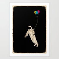 astronaut Art Prints featuring Astronaut by Koning