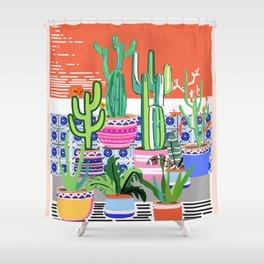 Cactus Window Shower Curtain