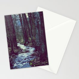 forest stream Stationery Cards