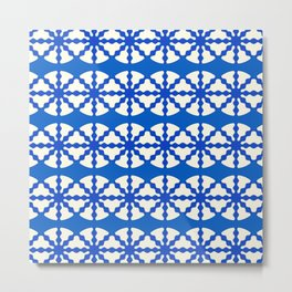 Blue Pattern Metal Print