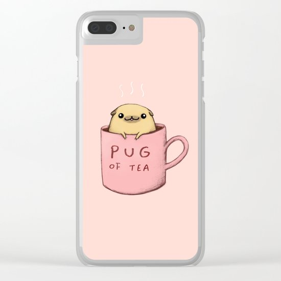 Pug of Tea Clear iPhone Case