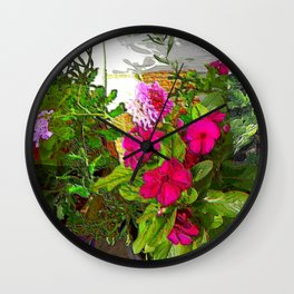 Mixed Annuals Wall Clock