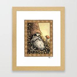 Gnome Bones Framed Art Print