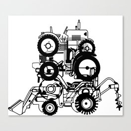 FARM TRACTORS Wheels Canvas Print
