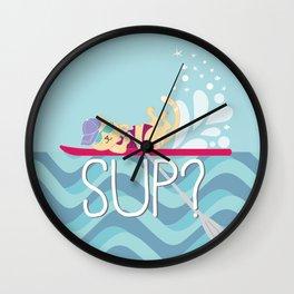 SUP Cat Wall Clock