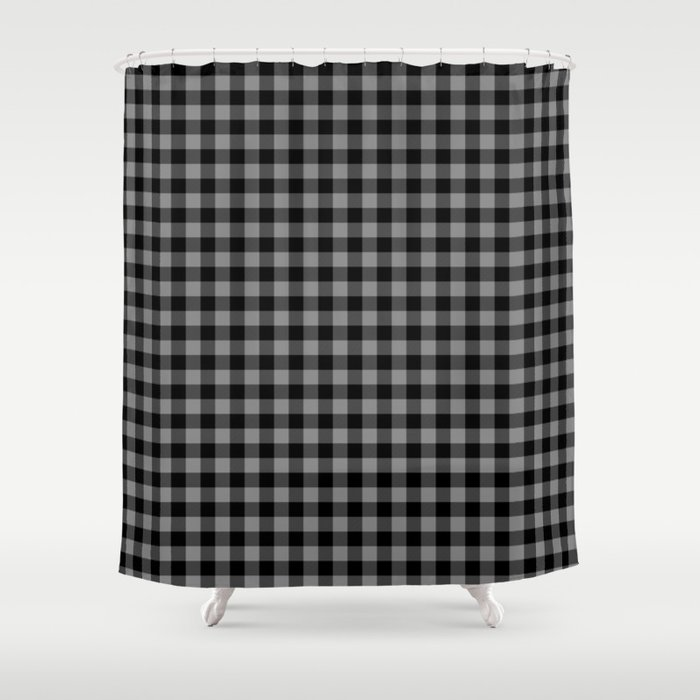 Gray Country Cottage Summer Buffalo Plaid Shower Curtain By Podartist