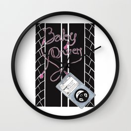 Baby Driver  Alternative Movie Poster Wall Clock