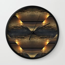Sunset Kaliedoscope Wall Clock