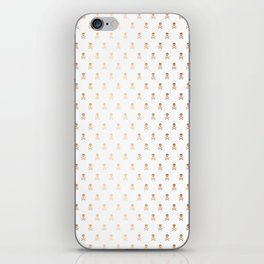 ROSE GOLD SKULLS ALL OVER PRINT LARGE iPhone Skin