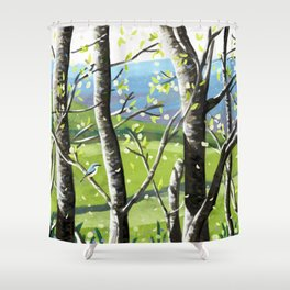 Wild Cherry Blossom  Shower Curtain