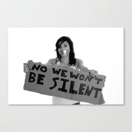 WE WILL NOT BE SILENT Canvas Print