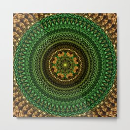 Forest Eye Mandala Metal Print
