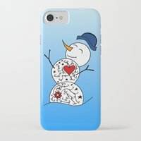 snowman iPhone & iPod Cases featuring Snowman  by #dancingpenguin