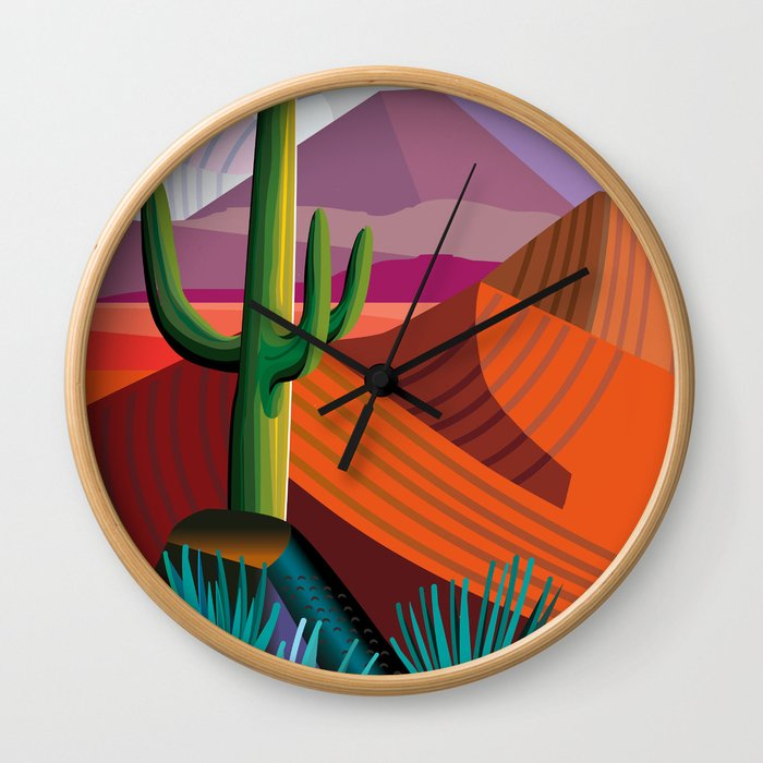 Thunderhead Builds in Arizona Desert Wall Clock