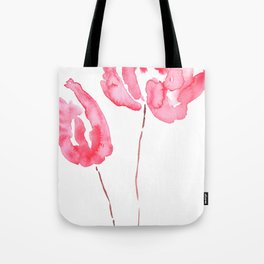 2 red abstract tuplips Tote Bag