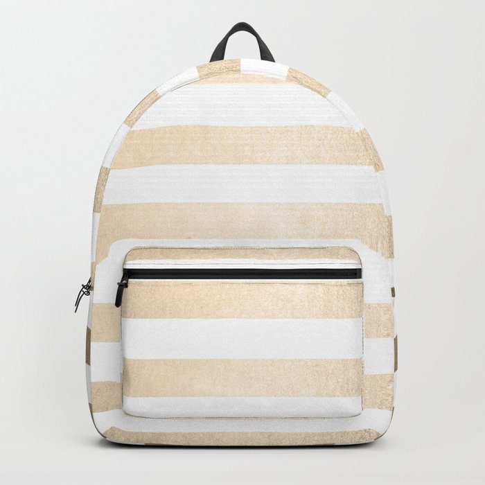 Simply Striped in White Gold Sands Backpack