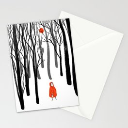 Little Red Riding Hood digital art Stationery Cards