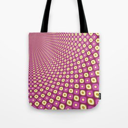 Groovy Pink Psychedelic Pattern Tote Bag