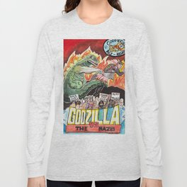 Godzilla vs The Nazis Long Sleeve T-shirt