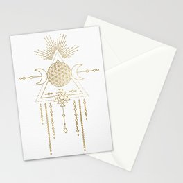 Golden Goddess Mandala Stationery Cards