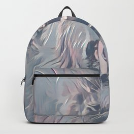 Faded Pastel Lion Backpack